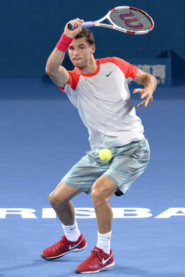 Class act: Grigor Dimitrov is now under the guidance of Australian coach Roger Rasheed.