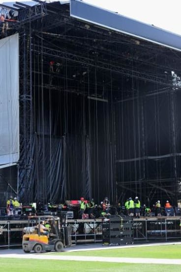 A bit like building the pyramids: The enormity of the job ahead for the Rolling Stones tour.