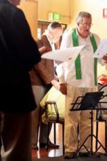 Illicit mass … Greg Reynolds leads the group Inclusive Catholics.