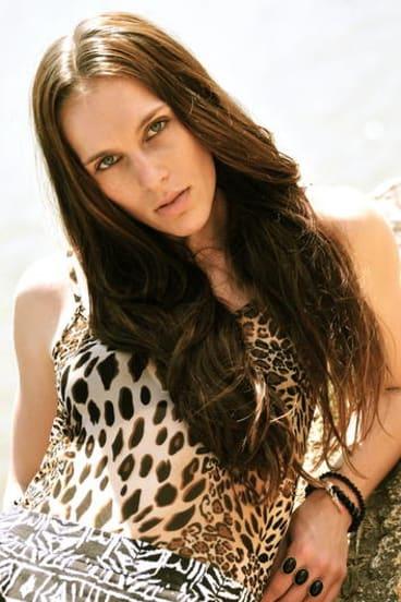 Mikaela Dombkins modelling.