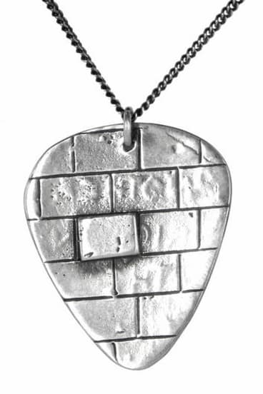 <i>Another Brick in the Wall,</i> one of Hannah Chambers' plucker pendants.