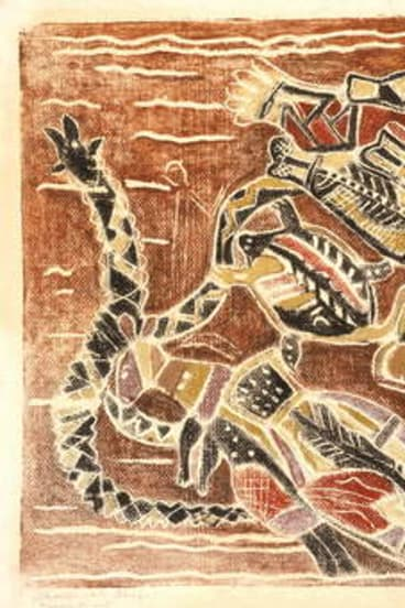 Margaret Preston's <i>Aboriginal Design</i>. 1943. National Gallery of Australia, Canberra, Margaret Rose Preston Estate