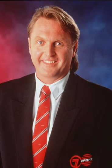 Neil Brooks as a Seven sports commentator in 1997.