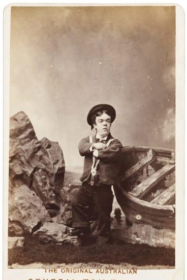 Sideshow Alley: The Australian Tom Thumb (John David Armstrong), c.1880 by Sarony & Co.