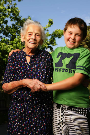 Theodora Tsantefski, aged 100, and 10-year-old Patrick Joyce will both celebrate Australia Day tomorrow.