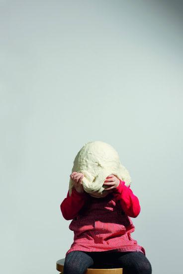 Katrine, 3, Copenhagen, 2008. From Dough Portraits.