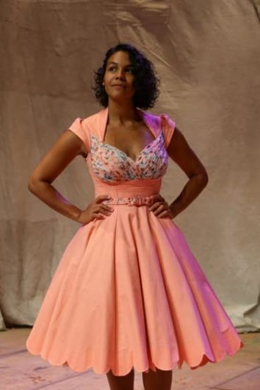 All dressed up: Zahra Newman.