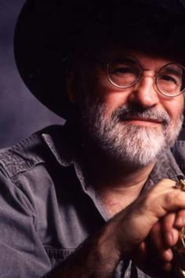 Author Terry Pratchett.