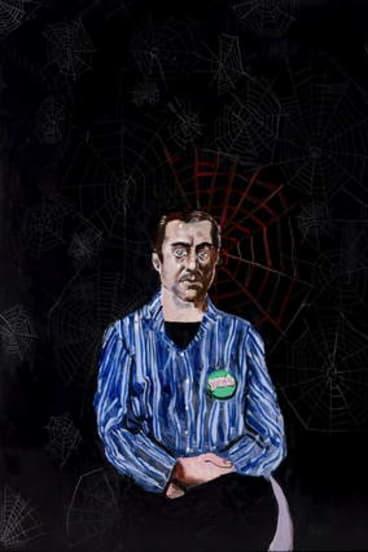 Former Canberra artist McLean Edwards' portrait of curator Glen Barkley.