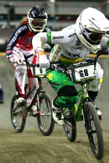 Riding high: Australian BMX star Caroline Buchanan is a contender for the Rio Olympics.