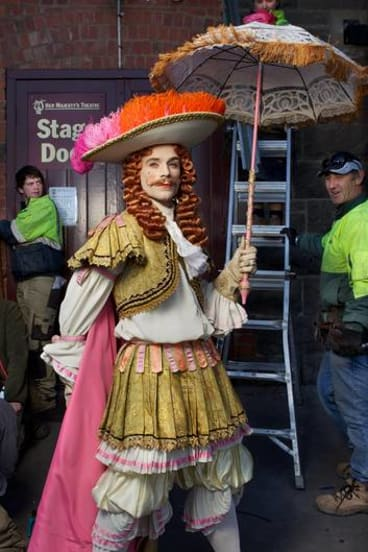 Matthew Donnelly in full costume backstage for <i>Don Quixote</i> at her Majesty's Theatre, Ballarat.