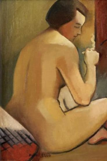 Nude with Cigarette, 1930, by Dorrit Black, Sydney.