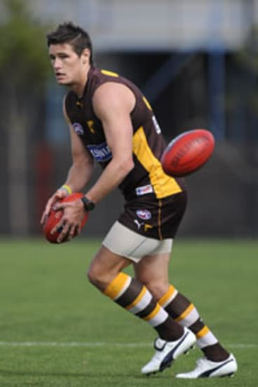 Robert Campbell during his playing days with Hawthorn.