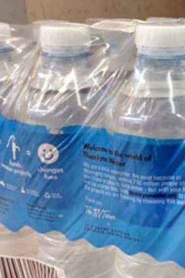 Thankyou bottled water is set to be sold at major supermarkets.