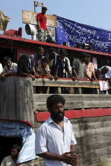 Java, 2009 ... speaking for the asylum seekers refusing to leave their boat.