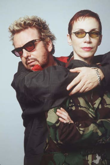 From Tourists to Eurythmics: Dave Stewart and Annie Lennox photographed in 1999.