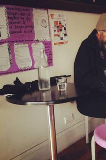 Purple Goanna cafe.
