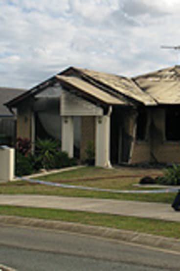 The scene of the fatal house fire.