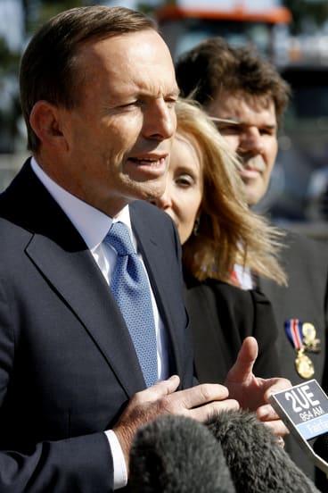 A leader with laboured speech skills: Tony Abbott.