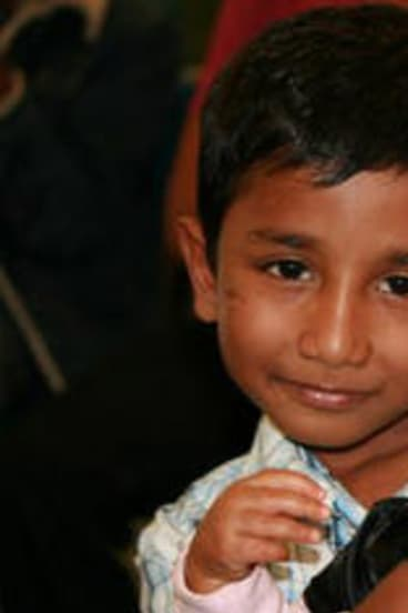 Ranjini's sons, Pirai and Kathir, now 8 and 6.