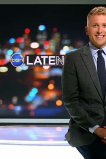Channel Ten newsreader Hamish Macdonald.