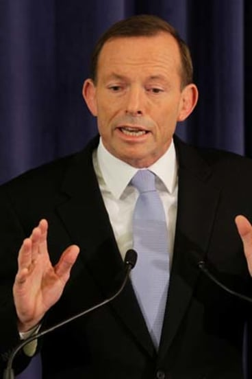 """I'm never going to apologise for being a dad and having a family"" ... Opposition Leader Tony Abbott."