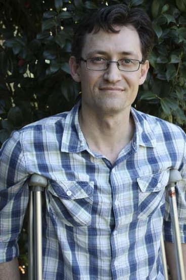 Brisbane cyclist Craig Cowled, whose leg was shattered when he was hit by a car.