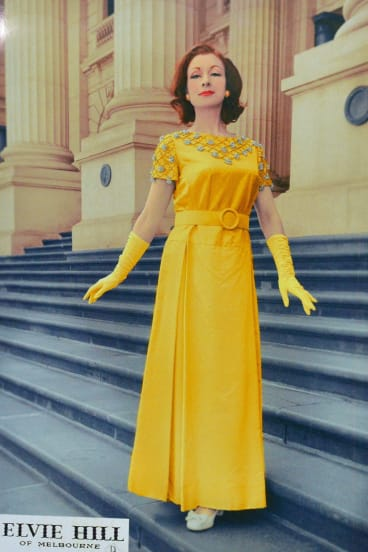 A bright yellow Elvie Hill design.