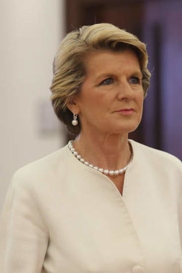 Withdrawn support: Foreign Affairs Minister Julie Bishop.