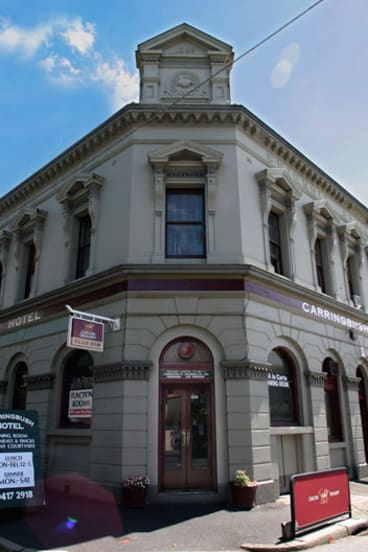 Owner goes bust: The Carringbush Hotel in Abbotsford.