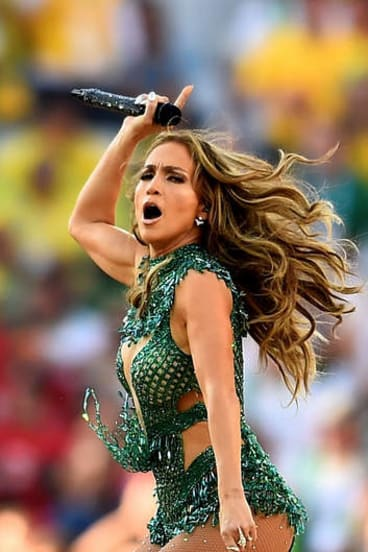 Rockin' the world: J.Lo performs during the opening ceremony of the 2014 FIFA World Cup in Brazil.