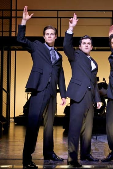 The lead performers in Jersey Boys.