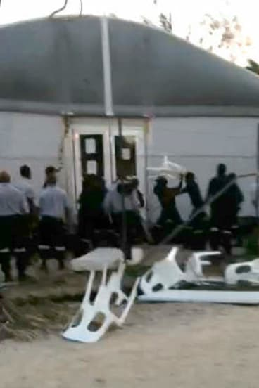 Still image from video of the day before the riot.