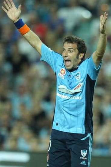 Doing it all: Alessandro Del Piero will captain Sydney FC this season.