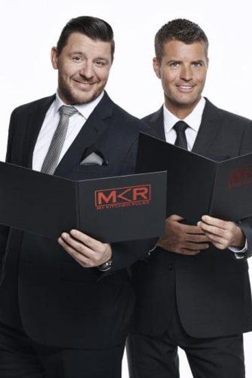 My Kitchen Rules: Pete Evans with fellow judge Manu Feidel.