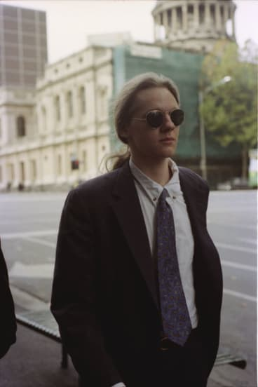 Man with a plan: Julian Assange in 1995 when he faced multiple charges of hacking.
