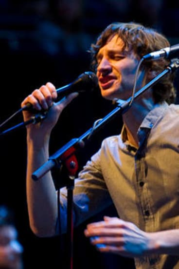 Gotye performing at the Opera House last month.