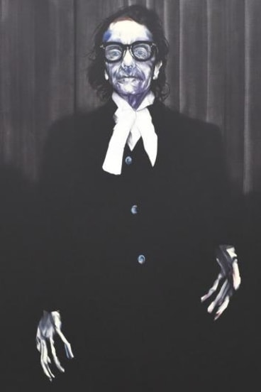 Nigel Milsom's portrait of barrister Charles Waterstreet at the Art Gallery of NSW.