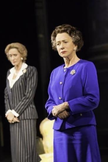 Dame Helen Mirren playing Queen Elizabeth II in <i>The Audience</i>.