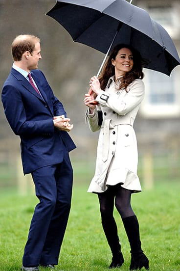 Prince William and his fiancee, Kate Middleton.