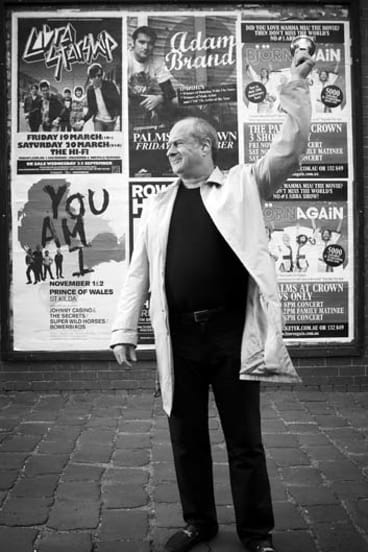 """The best posters send a message"" ... Michael Gudinski."