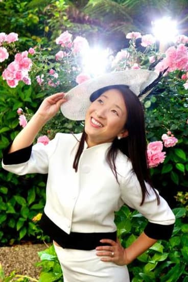 Lisa Xu's two-piece Derby day suit cost her a miserly $100.