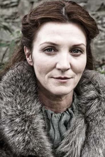 Joined the feast: Michelle Fairley who plays Catelyn Stark in the TV series.