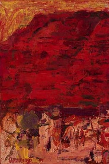 One of the paintings included in a retrospective of her work: Dusk Pilbara.