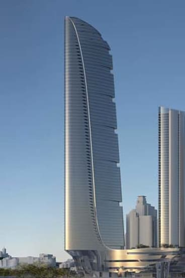 """Front runner: Former government architect Chris Johnson believes the Adrian Smith and Gordon Gill design is a """"fraction ahead."""""""