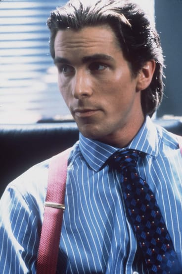 Christian Bale in the film version of <i>American Psycho</i>.