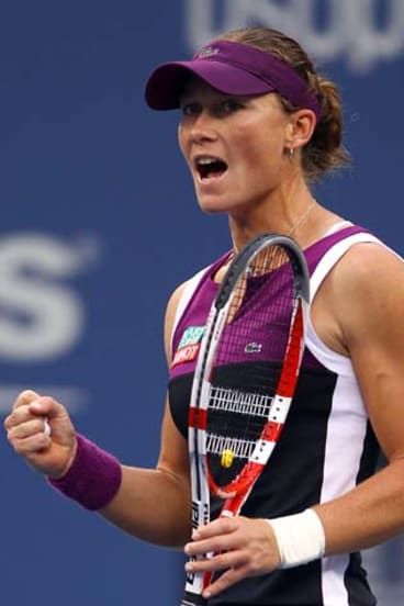 Samantha Stosur played her best tennnis at the best time.