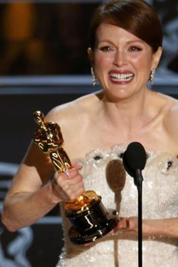 Julianne Moore won best actress for <i>Still Alice</i>.