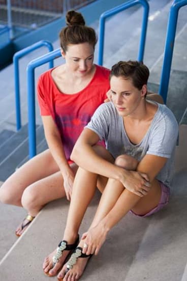 Winning team: Cate (left) and Bronte Campbell.