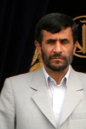 Iranian President Mahmoud Ahmadinejad.